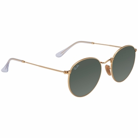 Ray Ban RB3447N 001 53 Round Flat Lenses Unisex  Sunglasses