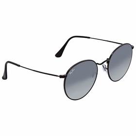 Ray Ban RB3447N 002/71 53 Round Flat Lenses Unisex  Sunglasses