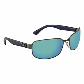 Ray Ban RB3566CH 004/A1 65 Chromance Unisex  Sunglasses