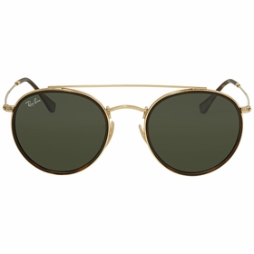 Ray Ban RB3647N 001 51 Round Double Bridge Unisex  Sunglasses