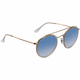 Ray Ban RB3647N 90683F 51 Round Double Bridge Ladies  Sunglasses
