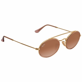 Ray Ban RB3847N 9125A552 Oval Double Bridge Ladies  Sunglasses