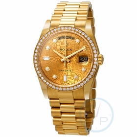 Rolex 118348CJDP Day-Date Ladies Automatic Watch