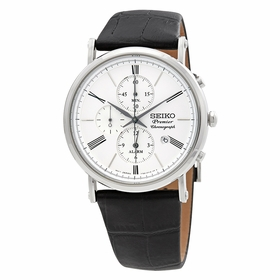 Seiko SNAF77P1 Premier Mens Chronograph Quartz Watch