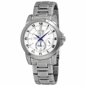 Seiko SNP091 Premier Kinetic Perpetual Mens Auto-Quartz Watch