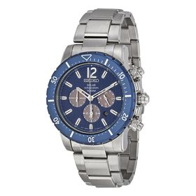 Seiko SSC247 Solar Mens Chronograph Eco-Drive Watch
