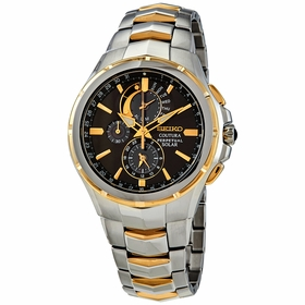 Seiko SSC376 Coutura Solar Perpetual Mens Chronograph Eco-Drive Watch