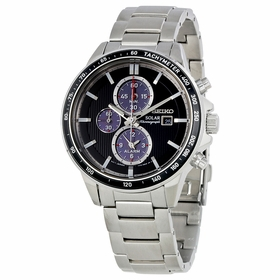 Seiko SSC435P1 Solar Mens Chronograph Eco-Drive Watch