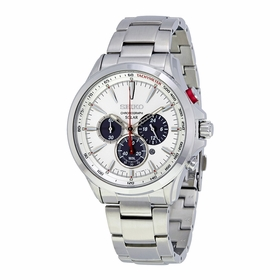 Seiko SSC491 Solar Mens Chronograph Eco-Drive Watch