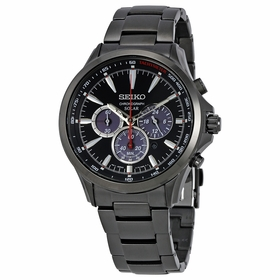 Seiko SSC497 Solar Mens Chronograph Eco-Drive Watch