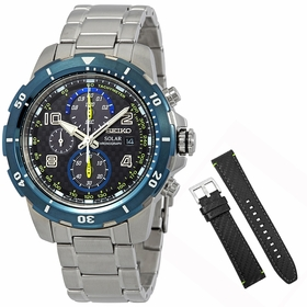 Seiko SSC637 Jimmie Johnson Mens Chronograph Eco-Drive Watch