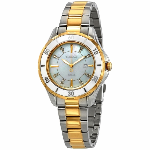 Seiko SUT338 Diamonds Ladies Eco-Drive Watch