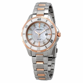 Seiko SUT340 Diamonds Ladies Eco-Drive Watch