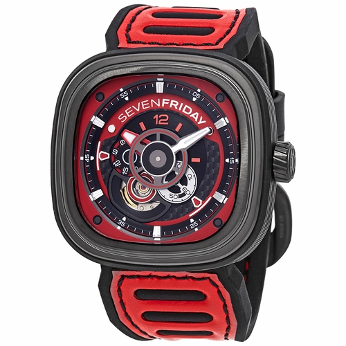Sevenfriday P3B Racing Team Automatic Red Dial Men's Watch