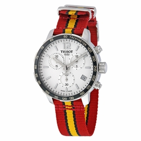 Tissot T095.417.17.037.08 Quickster Miami Heat NBA Special Edition Mens Chronograph Quartz Watch