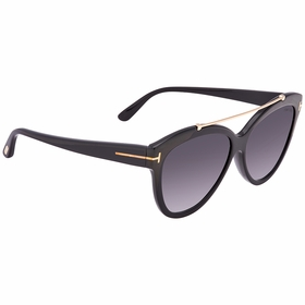 Tom Ford FT0518 01B LIVIA Ladies  Sunglasses