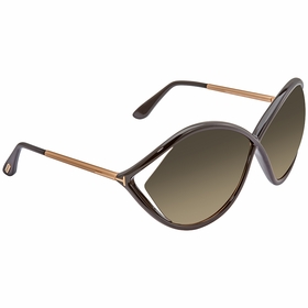 Tom Ford FT0528-01B Liora Ladies  Sunglasses