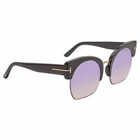 Tom Ford FT0552-01B Savannah Ladies  Sunglasses