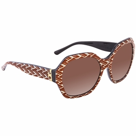 Tory Burch 0TY7120 174813 57 PATTERNED SERIF-T Ladies  Sunglasses