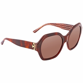 Tory Burch TY7120 165873 PATTERNED SERIF-T Ladies  Sunglasses