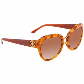 Tory Burch TY712417251356 Angular Metal-Logo Ladies  Sunglasses