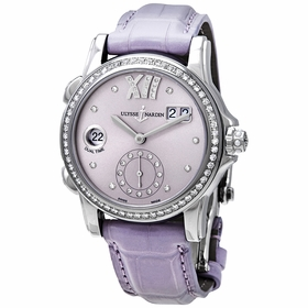 Ulysse Nardin 3343-222B/30-07 Classic Dual Time Ladies Automatic Watch