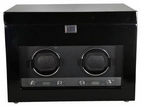 Wolf Savoy Double Watch Winder - Black 454670