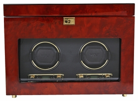 Wolf Savoy Double Watch Winder - Burlwood 454610