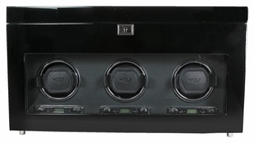 Wolf Savoy Triple Watch Winder - Black 454770