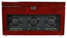 Wolf Savoy Triple Watch Winder - Burlwood 454710