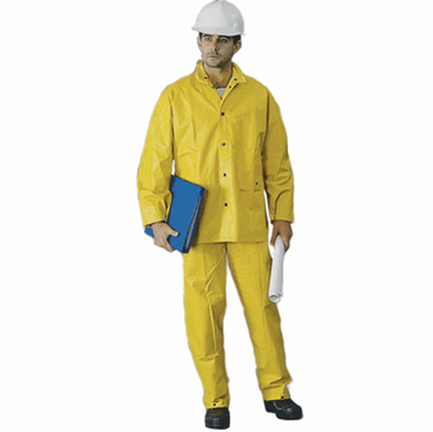 2W 7040-SD Yellow Rainsuit With Detachable Hood