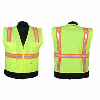 2W International, Lime Green Hi-Vis Surveyor Vest