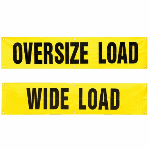 2W TB-1884 Wide Load / Oversize Load Truck Banner
