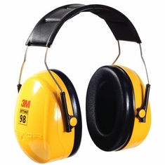 3M Peltor Optime� 98 Over-the-Head Earmuffs