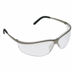 A/O Safety, 247-11343-10000-20 Metaliks Sport Brushed Nickle Frame Clear - Anti-Fog