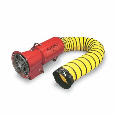 "Allegro® Industries 9534-15 DC 1/4 HP 8"" AC COM-PAX-IAL Metal Blower With Canister And 15' Duct"