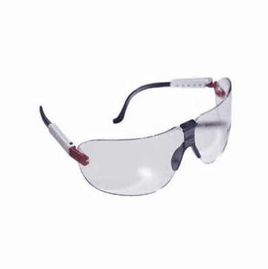 AO Safety 16203-00000 Medium Fectoids, Safety Eyeware With Red/White/Blue Temple And Clear Lens