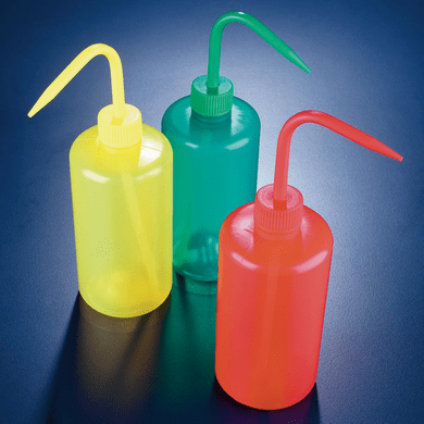 Azlon WGR136P Yellow Colored Wash Bottles