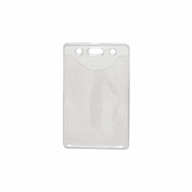 BPID 1815-1100 Clear Vinyl Vertical Badge Holder with Slot and Chain Holes 100 Each