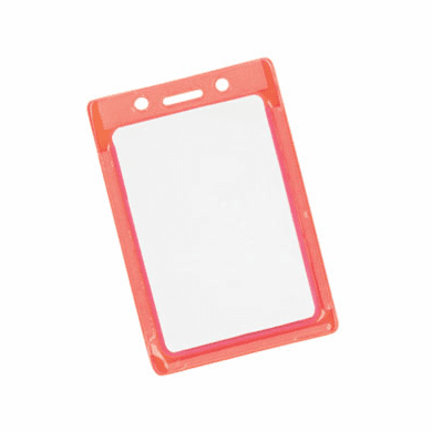 BPID 1820-3011 Reflective and Glow-in-the-Dark Color-Frame Vertical Vinyl Badge Holder
