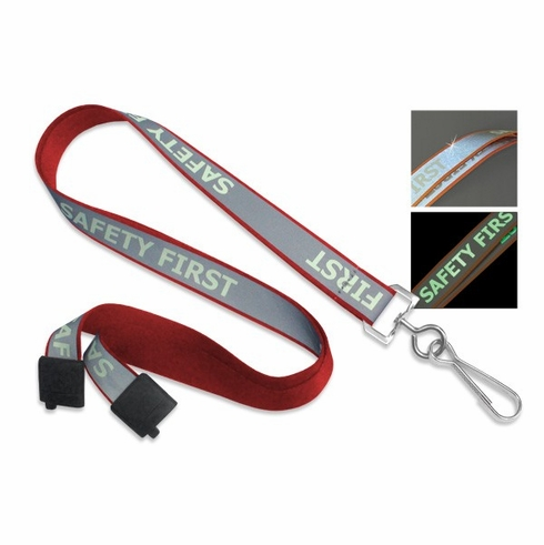 "BPID 2135-2526 ""Safety First"" Reflective Lanyard"