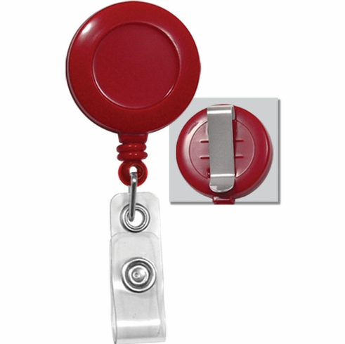 BPID Badge Reel W/ Clear Vinyl Strap & Belt Clip