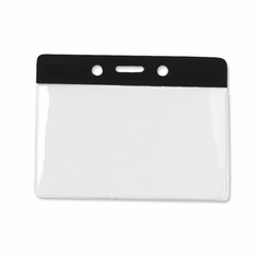 Brady, Horizontal Vinyl Color-Bar Badge Holder - Data/Credit Card Size
