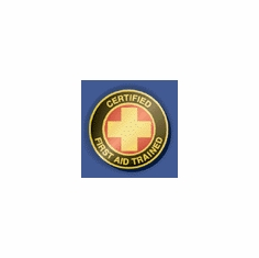 Certified First Aid Trained Recognition Pin