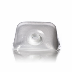 CPS, Cubitainer H022 1 gallon clear LDPE cube-shaped collapsible water container with 38-400 neck finish