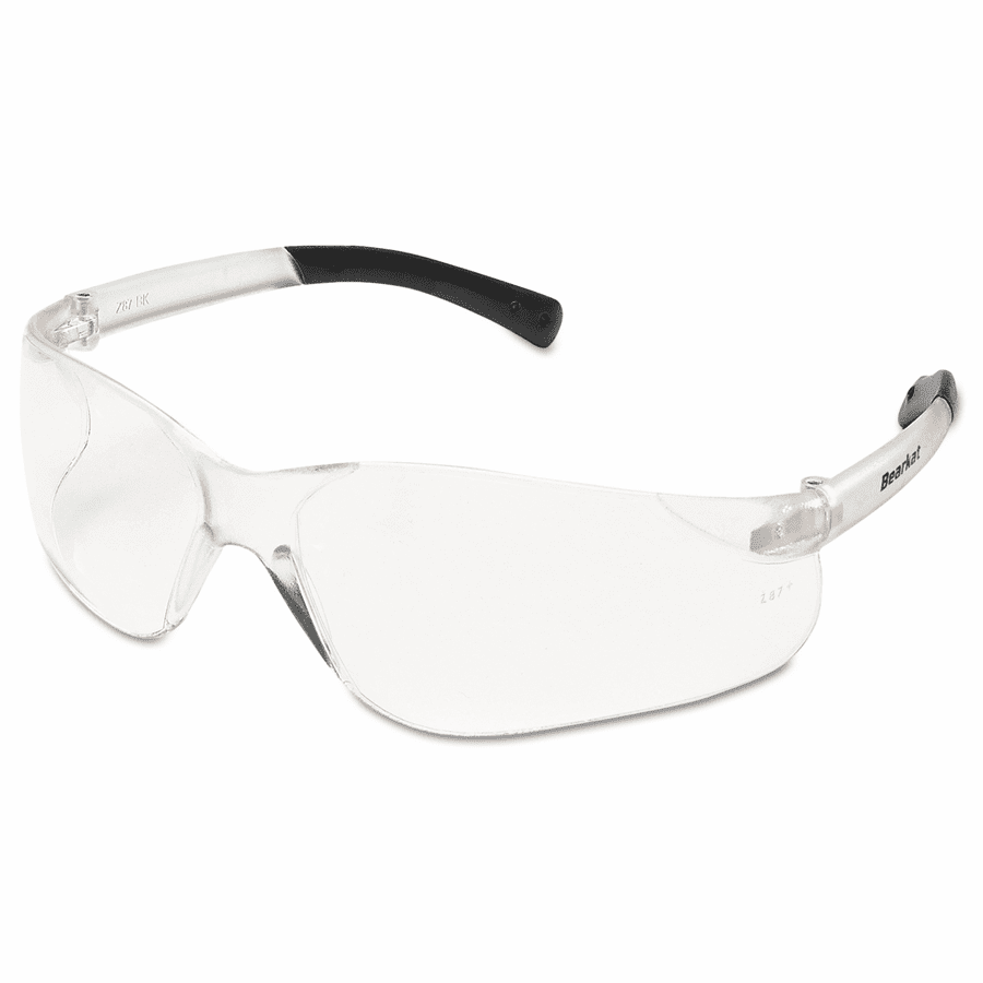 Crews, BearKat Safety Glasses, Clear Frame, Clear Lens