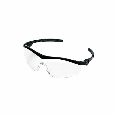 Crews, Storm, Safety Glasses, Black Frame, Clear Lens