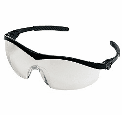 Crews, Storm, Safety Glasses, Black Frame, Indoor-Outdoor Lens