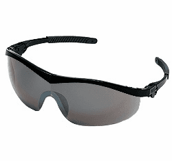 Crews,  Storm, Safety Glasses, Black Frame, Silver Mirror Lens