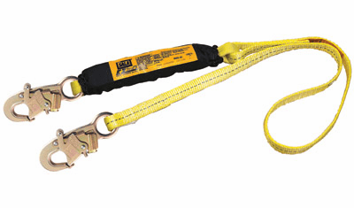 "DBI/SALA® 1"" X 6' Web Ez Stop® II Shock Absorbing Lanyard With Snap Hook At Ends"